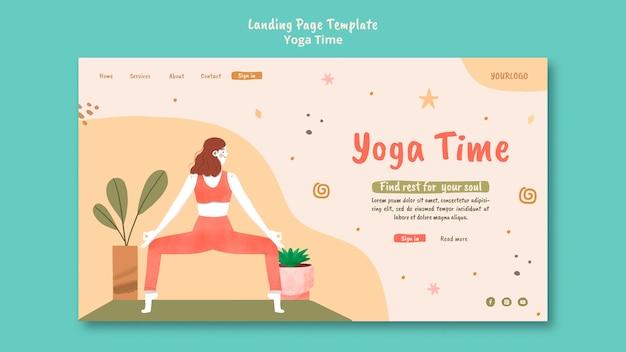 Page de destination pour le temps de yoga