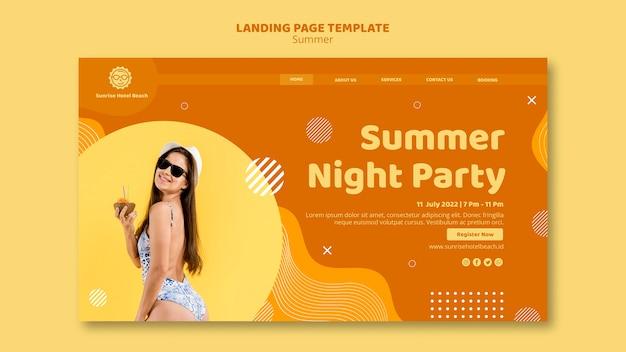 Page de destination pour les vacances d'été
