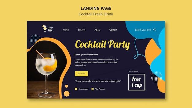 Page de destination pour une variété de cocktails