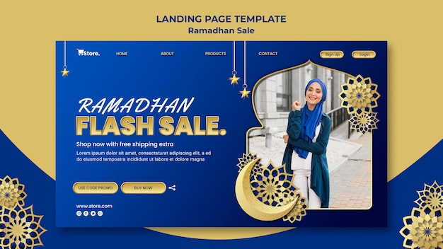 Page de destination pour la vente du ramadan