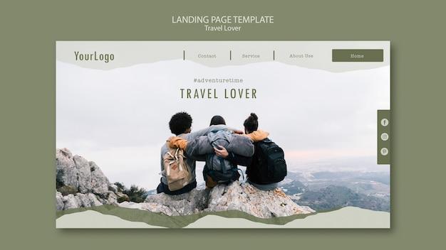 Page de destination pour voyager en plein air