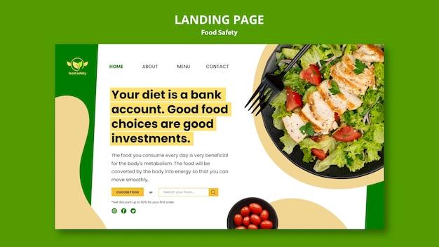 Page de destination de la sécurité alimentaire