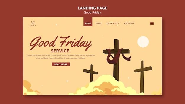 Page de destination sociale du vendredi saint