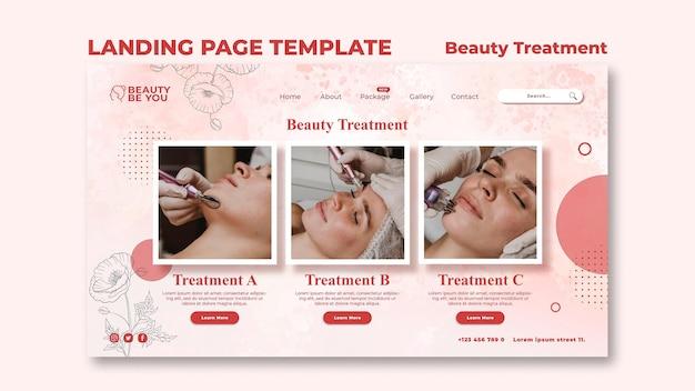 Page de destination des soins de beauté