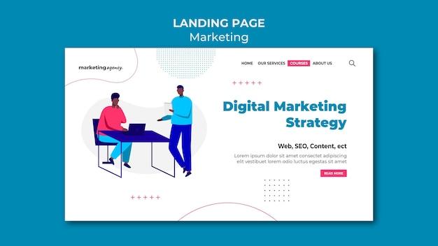 Page de destination de la stratégie de marketing numérique