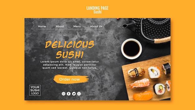 Page de destination de sushi