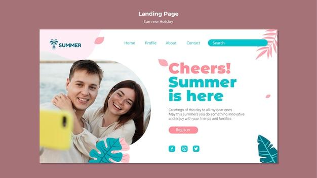 Page de destination des vacances d'été