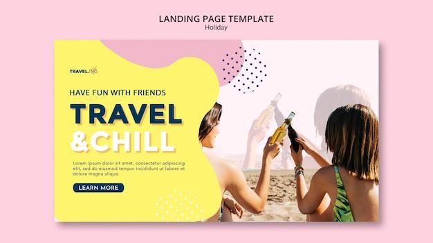 Page de destination de vacances de voyage