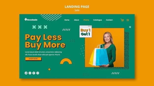 Page de destination de vente en ligne