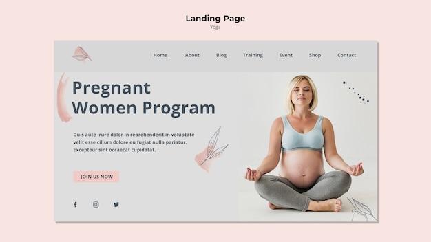 Page De Destination Yoga Pour Femmes Enceintes Psd gratuit