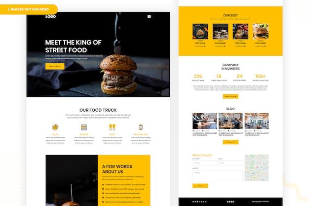 Page du site web de l'alimentation de rue