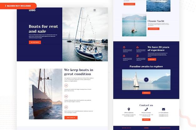 Page du site web de bateaux à louer et à vendre
