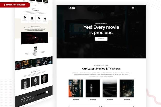 Page du site web des derniers films et émissions de télévision