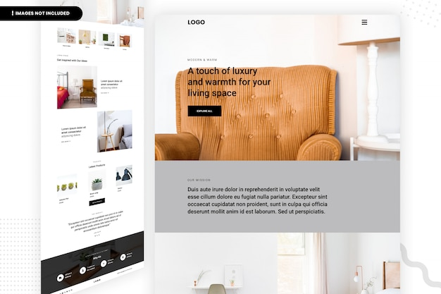 Page du site web espace de vie de luxe