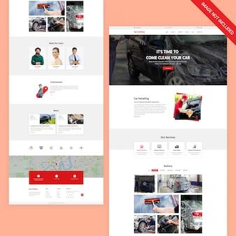 Page web du service automobile