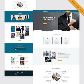 Page web de tailleur et couturière