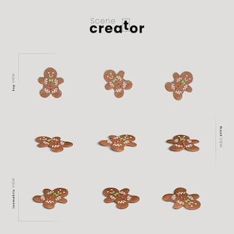 Pain de gingembre variété angles créateur de scène de noël