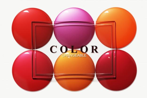 Palette de couleurs de rouge à lèvres