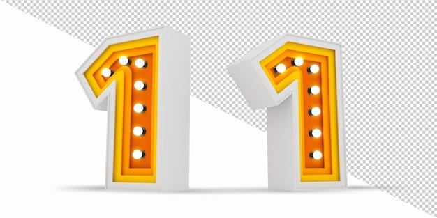 Panneau d'affichage d'ampoule de nombre coloré