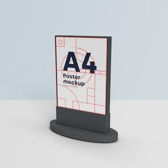 Panneaux d'affichage maquette scène 3d