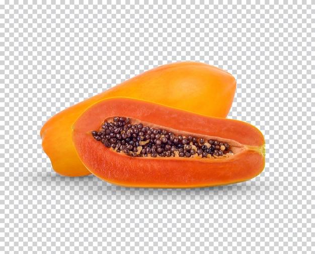 Papaye fraîche isolée