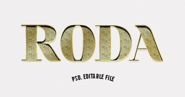 Papier 3d coupé effet de texte de texture dorée