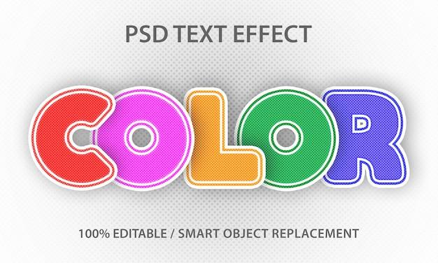 Papier de couleur à effet de texte modifiable premium