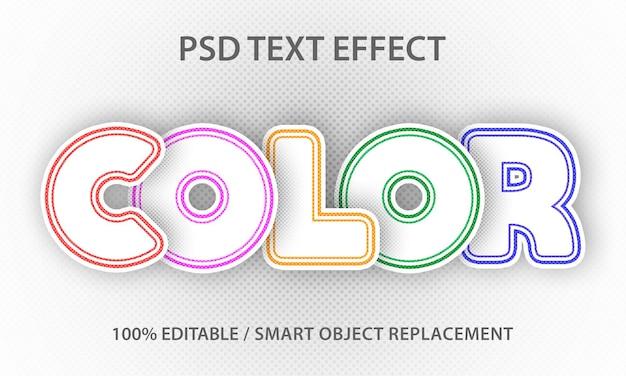 Papier de couleur à effet de texte premium