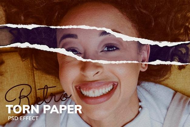 Papier déchiré psd effet de texture photoshop add-on remixed media