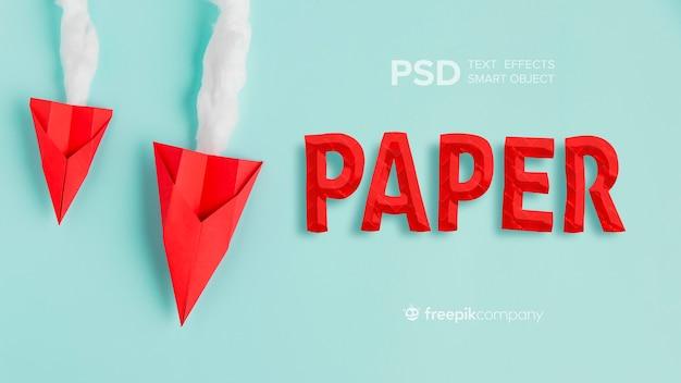 Papier effet texte avec des avions