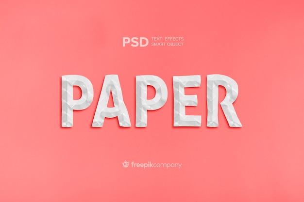 Papier effet texte
