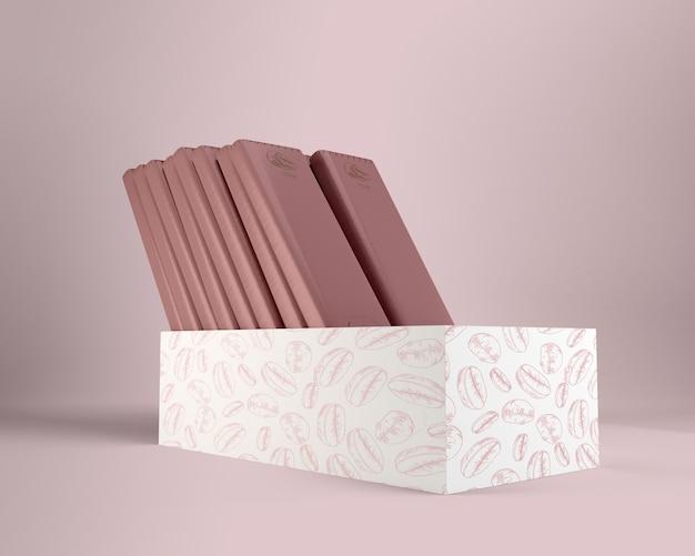 Papier d'emballage et dessins de boîtes pour le chocolat