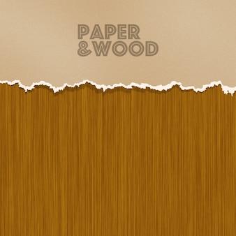Papier et fond en bois