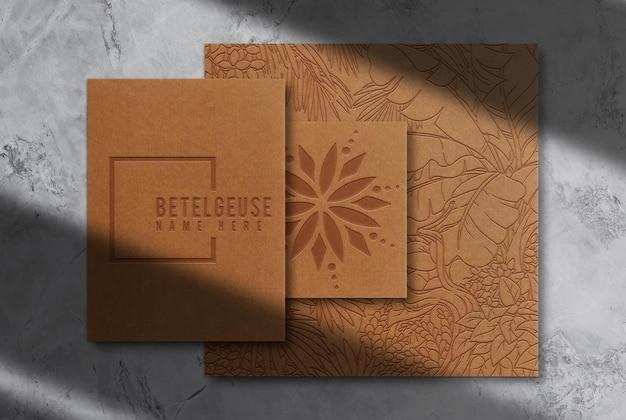 Papier Gaufré De Luxe En Papier Brun Et Maquette De Carte De Visite PSD Premium