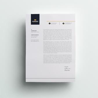Papier à en-tête d'entreprise