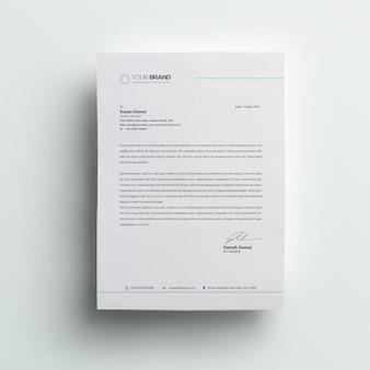 Papier à en-tête minimal