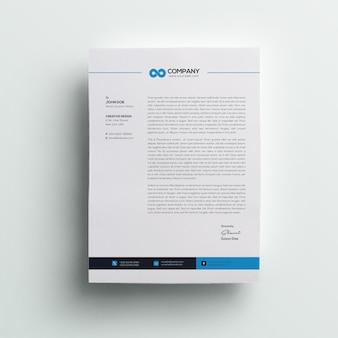 Papier à en-tête professionnel minimal company