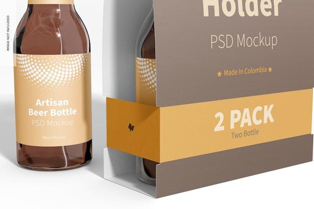 Paquet de 2 maquettes de porte-bouteilles en papier