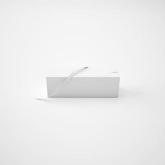 Paquet blanc avec ruban