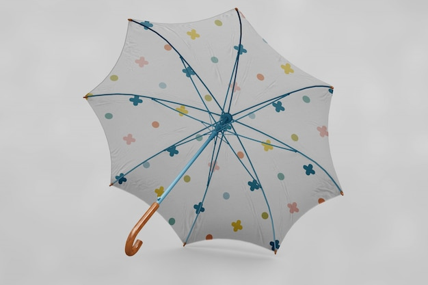 Le parapluie multicolore se moque
