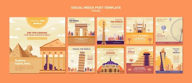 Parcourez la collection de publications instagram dans le monde avec des points de repère
