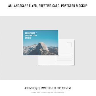 Paysage, dépliant, carte postale, maquette de carte de voeux