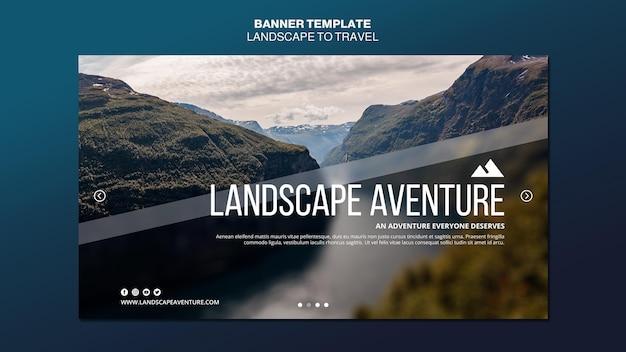 Paysage pour modèle de bannière de concept de voyage