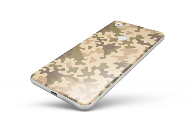 Peau de smartphone isolée