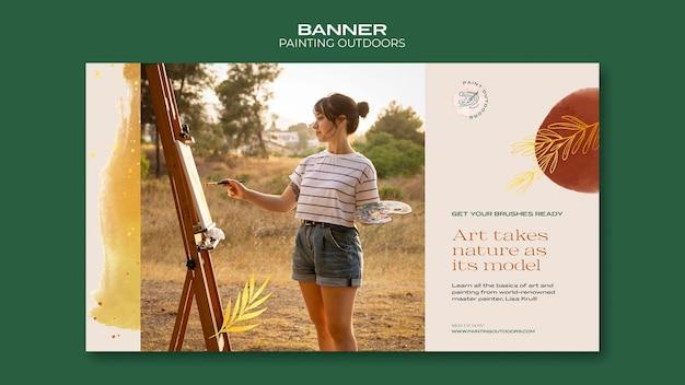 Peinture à l'extérieur du modèle de bannière