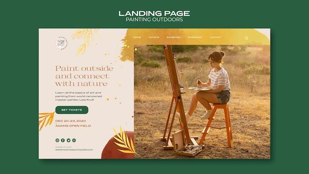 Peinture à l'extérieur de la page de destination du modèle