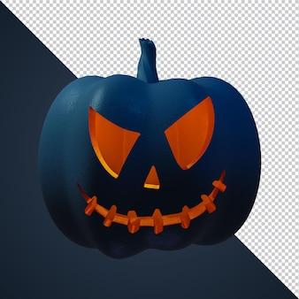 Personnage 3d de citrouille d'halloween pour flyer ou modèle de publication sur les réseaux sociaux