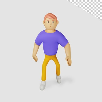 Personnage masculin 3d marchant