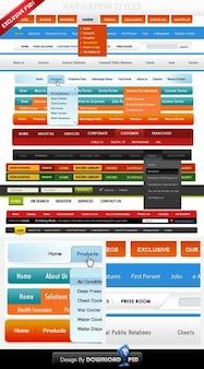 Personnalisé gratuit menu de navigation