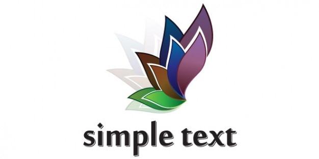 Pétale de fleur de conception de logo